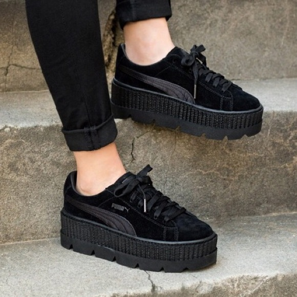 buy popular 86a94 d90d9 Puma x FENTY Cleated Creeper Platform Sneaker Mono NWT